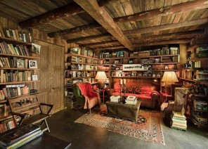 Rustic-home-library-design-ideas